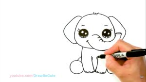 איך לצייר פיל